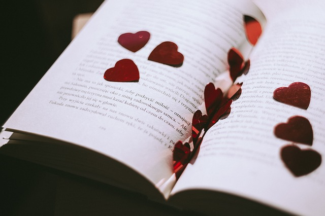 book heart photo